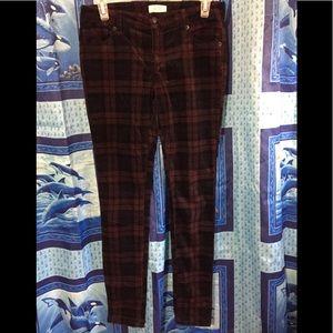 H&M Corduroy Skinny Pants Sz 26